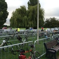 Pens of bikes ready at registration